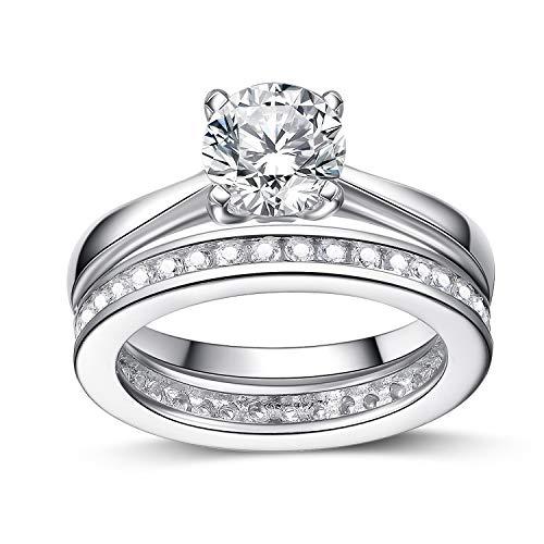 UK Sreema Dameskanaalset Sterling zilveren ring. Huwelijksverjaardag ring met gesimuleerde diamanten. 925 gestempeld. (R)