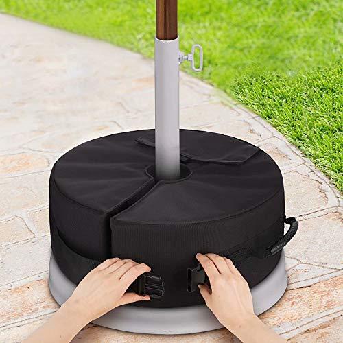Bolsa de peso base para sombrilla, sombrilla desmontable a prueba de intemperie Pesas de sombrilla Bolsas de arena para patio exterior Parasol Astas de bandera Soporte de soporte, manténgase estable