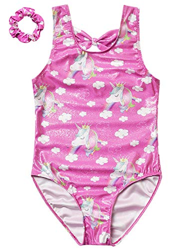 Rose Unicorn Swimsuits Girls Kids 10 11 One Piece Bathing Suits Swim Wear
