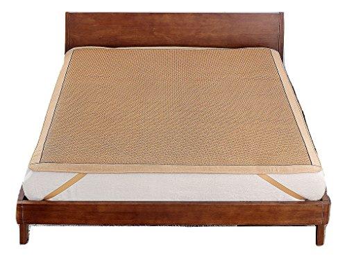 Qbedding Rattan Cooling Summer Sleeping Pad Mattress Topper (Full, No Pillow Shams, Ancient)