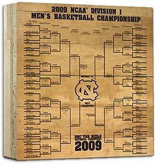 NCAA North Carolina Tar Heels Steiner Sports North Carolina Actual Court Piece with 2009 Tournament Bracket