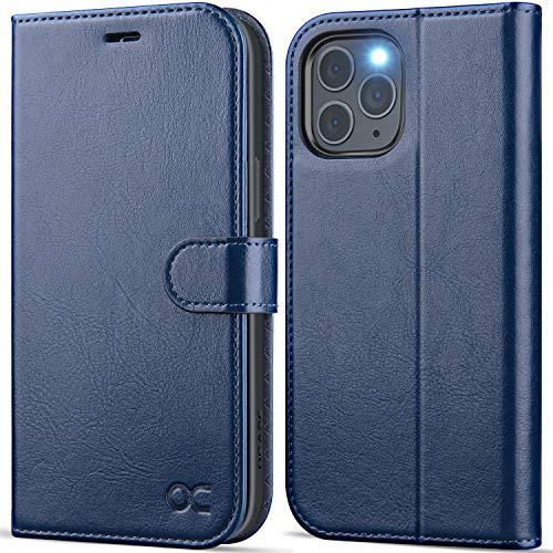 OCASE Handyhülle iPhone 12 Pro MAX Hülle [Premium PU Leder] [Kartenfach] [Magnetverschluss] Lederhülle RFID Schutzhülle Klapphülle Tasche Hülle Cover Etui Kompatibel für iPhone 12 Pro MAX 5G Blau