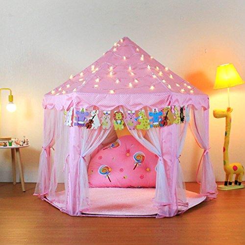 YOOBE Hexagon Princess Castle Play Tienda Interior