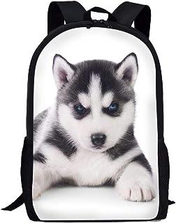 Mochila para niños y niñas con diseño de panda y tigre, con bolsa de almuerzo