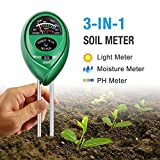 Atree Soil pH Meter, 3-in-1 Soil Tester Kits with Moisture,Light and PH Test for Garden, Farm, Lawn,...