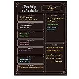 UCMD lavagna magnetica calendario per frigorifero con 8 gessetti colorati, cancellabile a secco, agenda settimanale, calendario lavagna (42 x 30 cm)