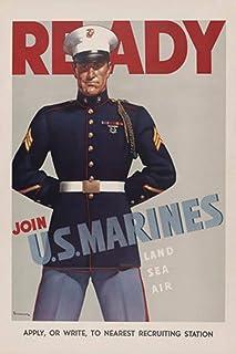 ArtParisienne Ready Join US Marines Land Sea Air Sundblom 12x18-inch Semi-Gloss Poster