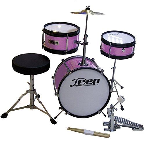 Bateria acustica para niños en color rosa chicle Deep 123PP