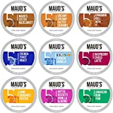 Maud's Flavored Coffee Variety Pack, 40ct. Recyclable Single Serve Flavored Coffee Pods - 100% Arabica Coffee California Roasted, Keurig Flavored Coffee K Cups Compatible Including 2.0