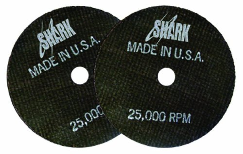 Shark 12706 3-Inch by 1/8-Inch by 1/4-Inch 5-Pack Double Reinforced Cut-off Wheels