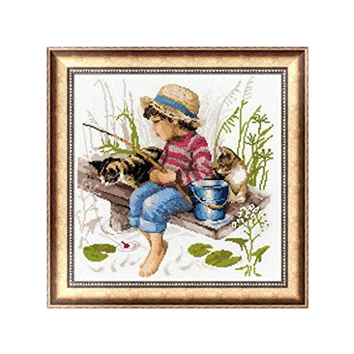 yournameI DIY 5D Kid Fishing Diamond Embroidery Rhinestone Painting Cross Stitch Home Decor