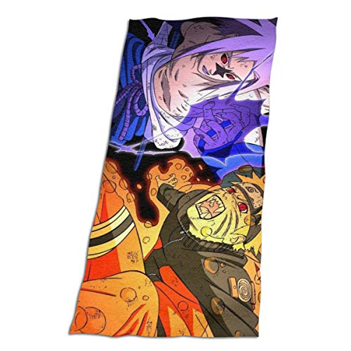 HJFRDVBNT Naruto Sasuke Toallas de algodón para la cara del baño de decoración para niñas gimnasio y yoga, de secado rápido, ultra suave, grande, microfibra, Blanco, 32'x64'
