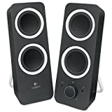 Logitech Multimedia Computer PC Speakers Z200 with Stereo Sound for Multiple Devices, Black (Non-Retail Packaging)