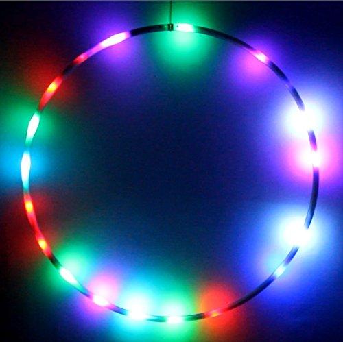 hoopomania LED Hula Hoop con 25 Luces y 7 Colores cambiantes, Ø90cm