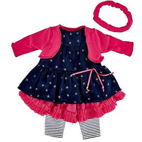 Käthe Kruse 0142802 Geburtstag Outfit 39-41 cm, pink