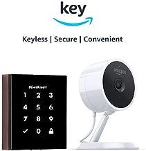 Kwikset Obsidian Keyless Touchscreen Electronic Deadbolt + Amazon Cloud Cam   Key Smart Lock Kit (Venetian Bronze)