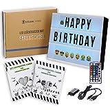 tricase LED Lightbox mit Buchstaben – A4 Leuchtkasten mit Farbwechsel, MEGA Set inkl. 173...