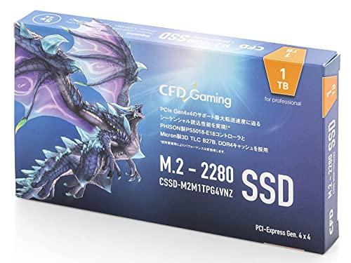 CFD販売 PG4VNZシリーズ 1TB (読取り最大 7,000MB/秒) 【PlayStation5 動作確認済】 M.2 2280 (NVMe) 接続 PCIe Gen4x4 内蔵 SSD CFD CSSD-M2M1TPG4VNZ