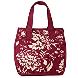Artecobags Insulated Lunch Bag - Red English Garden