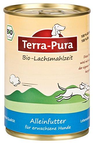 Terra Pura Bio-Hundenassfutter Lachsmahlzeit, 12er Pack (12 x 400 g)