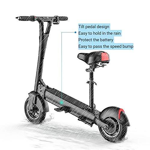 Minkui Scooter Elettrico per Adulti, Scooter Pieghevole, Faro a LED, Potenza 48V500W, Display LCD, Grande Ruota antideflagrante da 10 pollici-48V500W / 40-50km