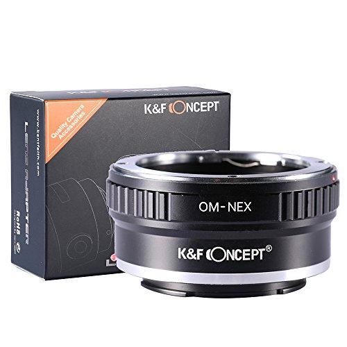 K&F Concept Adaptador de Montaje Pro Lente, Olympus OM Lente al Cuerpo de la cámara de Sony NEX (E-Mount), para NEX-3, NEX-3N, NEX-5, NEX-5R, NEX-6, NEX-7