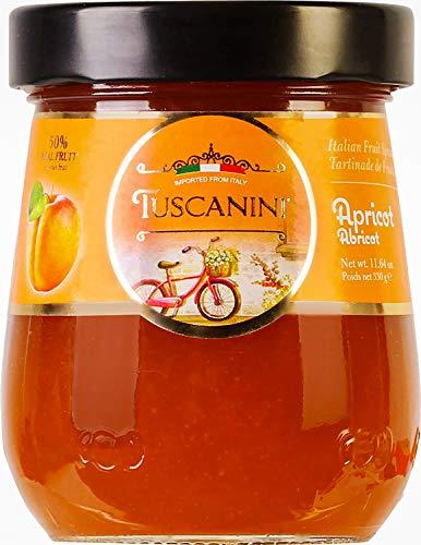 Tuscanini Premium Italian Apricot Preserves, 11.64 oz Jar, Spreadable Fruit...