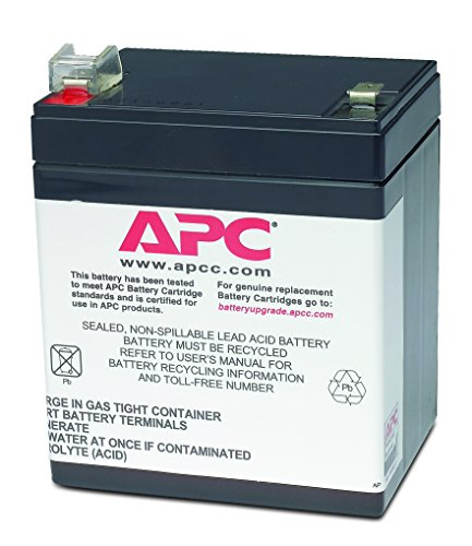 APC UPS Battery Replacement, RBC46, for APC Back-UPS models BE500, BE500C