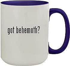 got behemoth? - 15oz Ceramic Inner & Handle Colored Coffee Mug, Deep Purple
