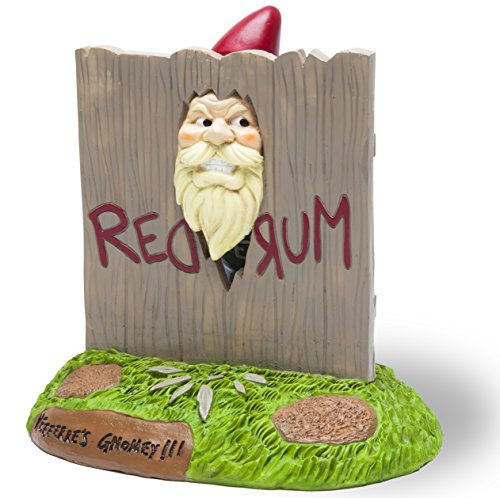 """BigMouth Inc. The """"Here's Gnomey"""" Garden Gnome - The Shining Movie Themed Weatherproof Garden..."""
