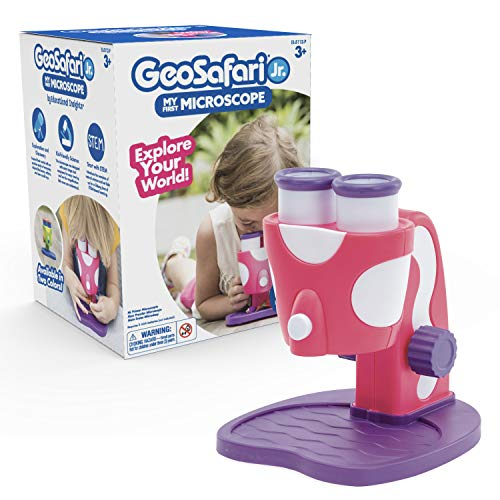 Educational Insights GeoSafari Jr. My First Microscope Pink: Preschool Science Toy, STEM Toy, Ages 3+