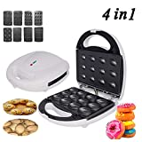 ZK 4 in 1 Waffle Maker Electric Cake Maker Toasting, Grilling Omelettes Breakfast Doughnut Sandwich Toaster for Household Kitchen