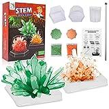Herefun Science Cristaux, Enfant Jouet Kit De Cristaux Science, Faire Pousser Cristal Expériences Colorées pour Enfants Jeux éducatifs 8 10 Ans (Orange Verte)