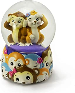 Jingle Jumbles – Monkey See Monkey Do Musical Water Globe - Over 400 Song Choices - Teddy Bear's Picnic (John W Bratton) - Swiss