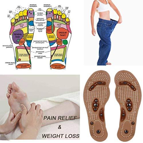 Akupressur-Einlegesohlen Vickypick von Dragon Honor, magnetisch, gesundheitsfördernde Massage-Einlegesohle zur Gewichtsabnahme