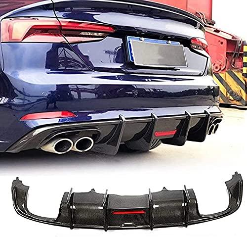 Para Audi A5 B9 Sline | S5 2017-2019,Real Carbon Fiber Difusor De Parachoques Trasero De Coche,Kits De CarroceríA De AleróN De Coche Accesorios De ModificacióN Y ActualizacióN