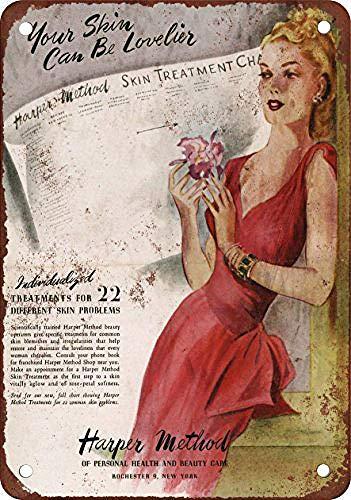 Generic Brands Method Skin Treatments Plaque en étain vintage rétro avec inscription en anglais