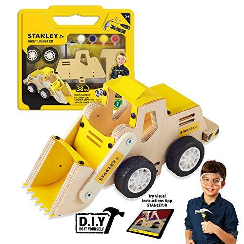 Stanley Jr. - Front Loader Kit, Medium Wood Building Kits Ages 5+ (OK032-Sy)