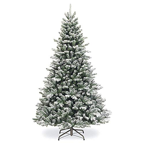 SPARKS Flocked Artificial Christmas Tree 7.5 ft Unlit. Beautiful Crafted Flocked Snow Tree With1500 Branch Tips. Perfect...