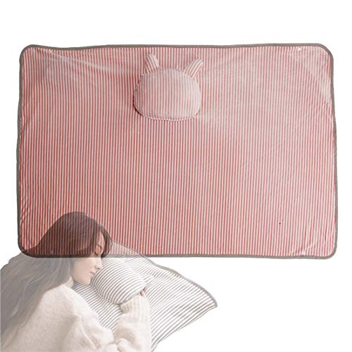 Electric Blanket USB Power Heating Throw, Fast Heating Warming Blanket with Slots, Hand washable, Suitable for Familie, for Warm Knees Leg and Hands Pink