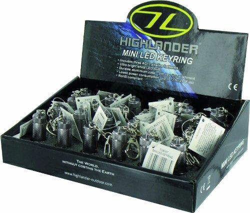 HIGHLANDER Porte-clés Mini Lampe de Poche LED Noir