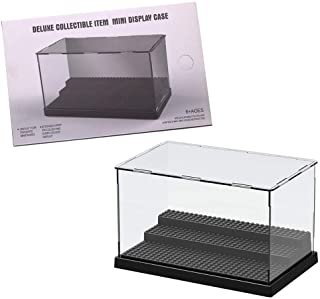 Display case for Minifigures Action Figures,3 steps Acrylic Display Case for Figure Display Pop Figure,Display case for Fi...