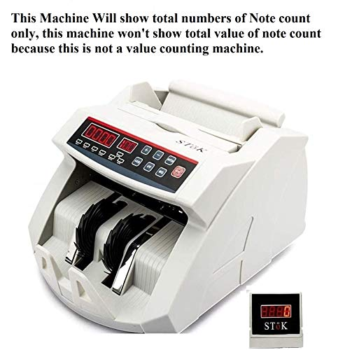 SToK (ST-MC01) Currency Counting Machine with UV/MG Counterfeit Notes Detection Plus External Display and 1 Year Warranty - (White)