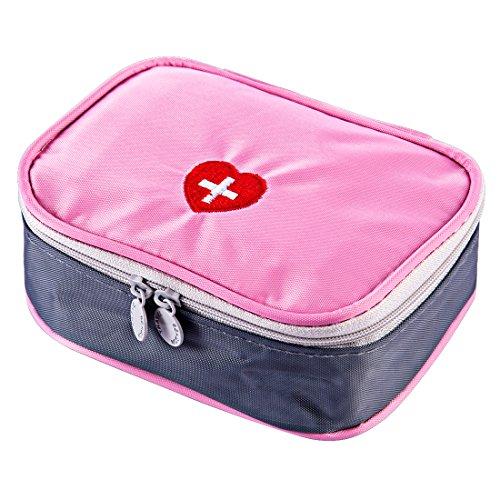 LoKauf 13 * 10 * 4cm Tragbar Wasserdicht Medizintasche Sanitätstasche Reiseapotheke Tasche Erste Hilfe Set