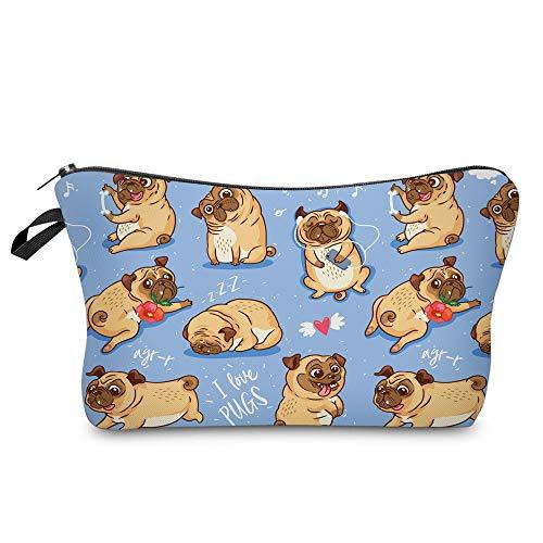 Cute Pug Cosmetic/Multi-Purpose Bag