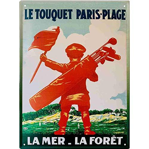 Le Touquet Paris Plage - Caddie Golfeur Rouge - 20 x 15 cm
