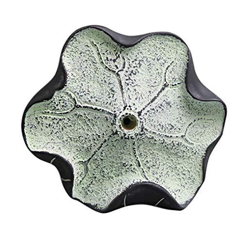 CBXSF kunstzinnige klassieke hars en steen poederjas haak Lotus vorm kleding haak muur Mount Pothook badkamer accessoires gewaad haken Groen