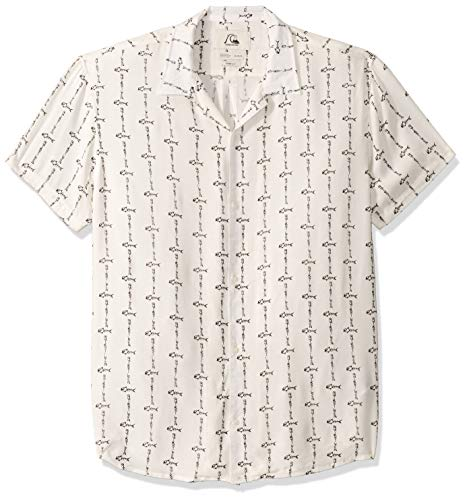 Quiksilver Herren The OG Camp Fluid Woven TOP Hemd, Antik White Quick Bone, Mittel
