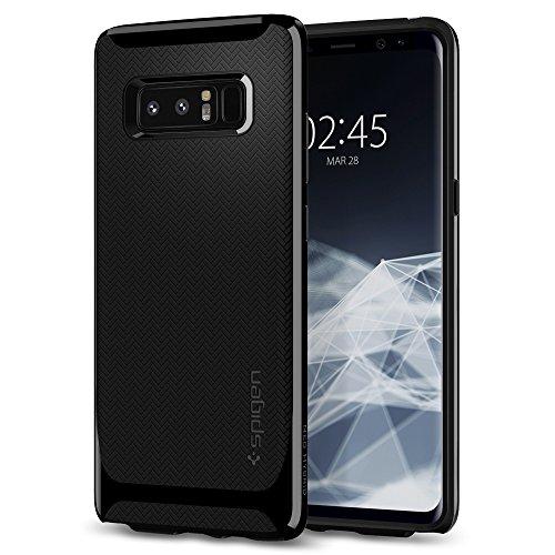 Spigen [Neo Hybrid Samsung Galaxy Note 8 Hülle (587CS22085) 2-teilige Handyhülle Modisches Muster TPU Schale PC Rahmen Schutzhülle Case (Schwarz)