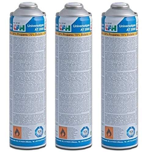 CFH 3 x Gaskartusche Universal für Gasbrenner
